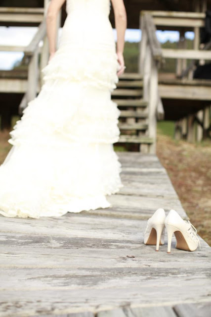 zapatos de novias tono marfil