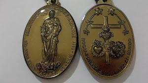 Medalha do Amantíssimo Coração de São José revelada nas Aparições de Jacareí-SP.