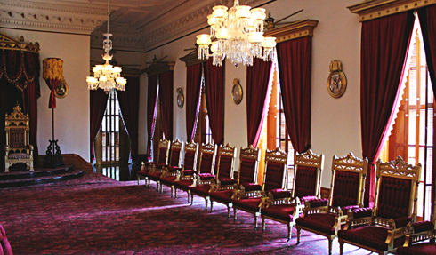 thrown room iolani palace