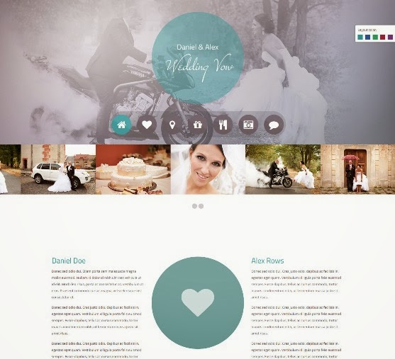 Wedding vow Responsive WordPress Theme