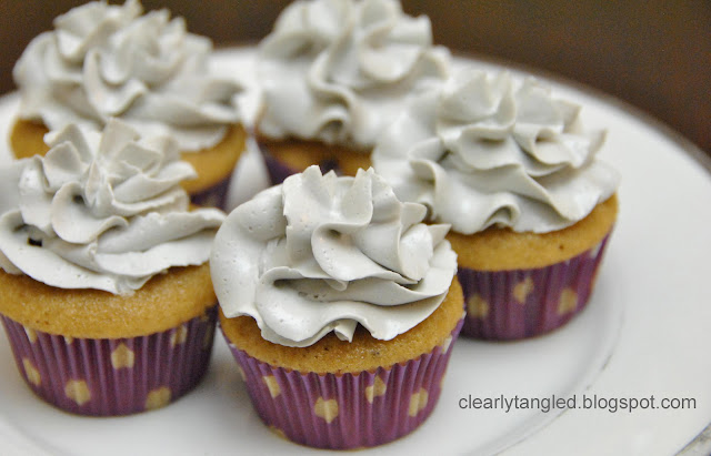 ... .: earl grey cupcakes with lavender swiss meringue buttercream
