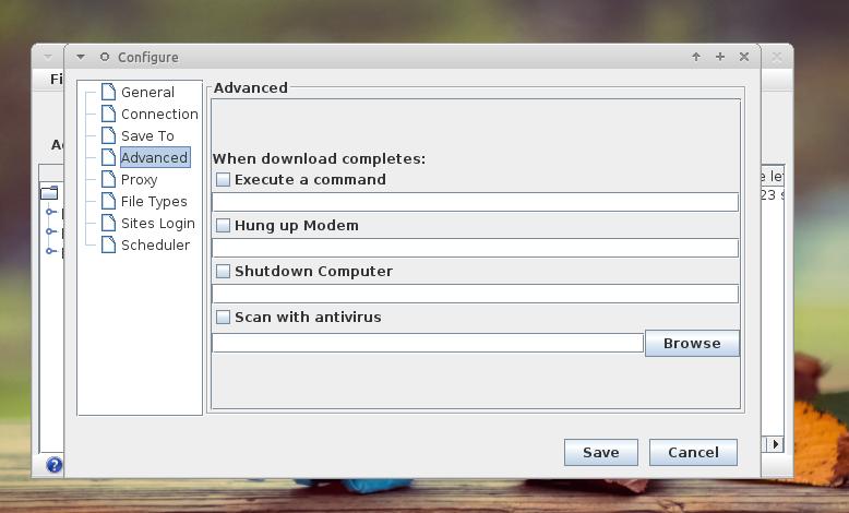 Konfigurasi tingkat lanjut di Xtreme Download Manager