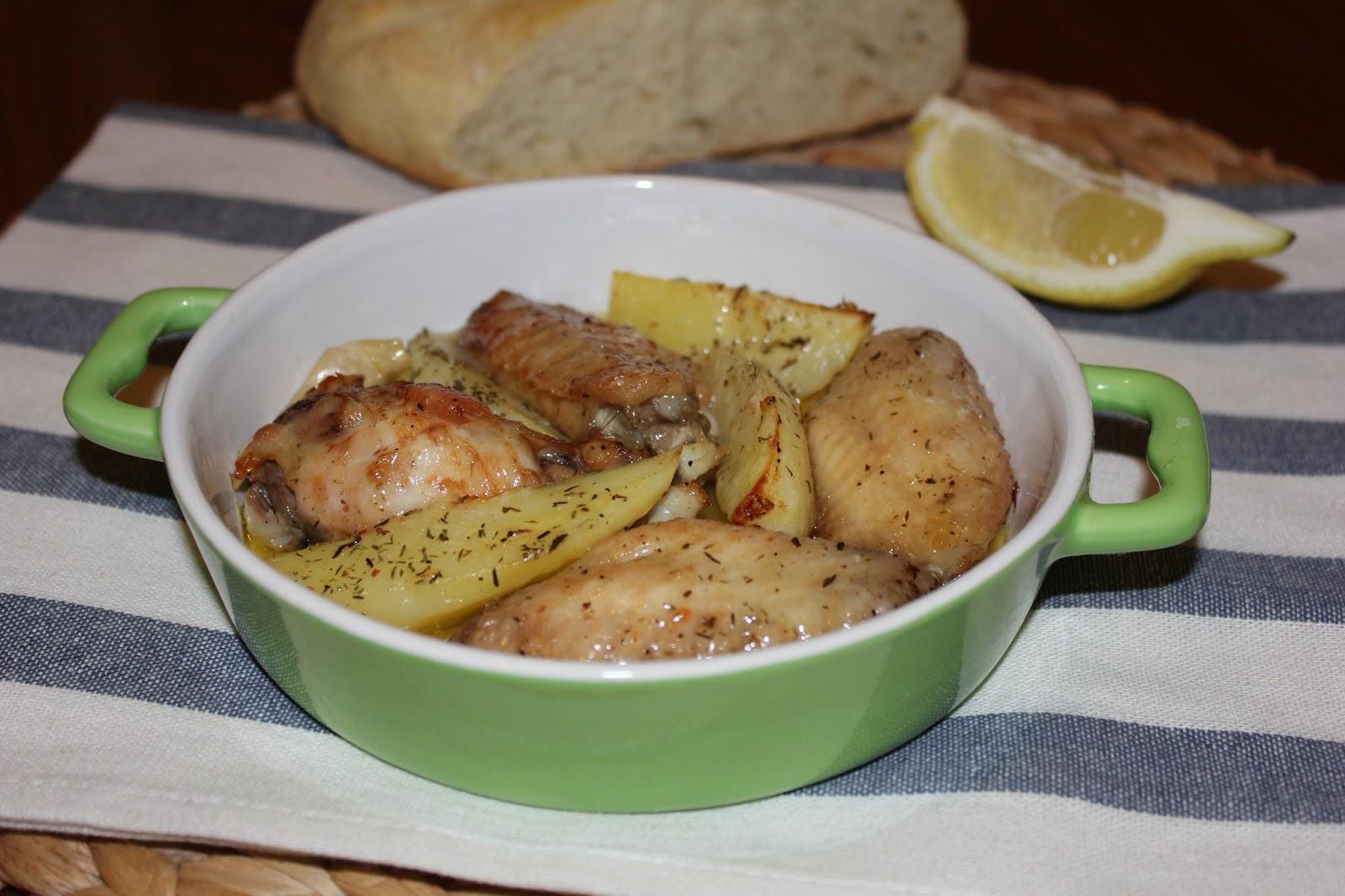 Cocinando entre dos mares alitas de pollo con tomillo - Limpiar horno con limon ...