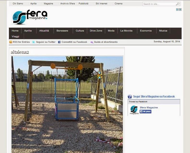 Altalene per disabili irraggiungibili parchi per tutti for Altalena con ponte