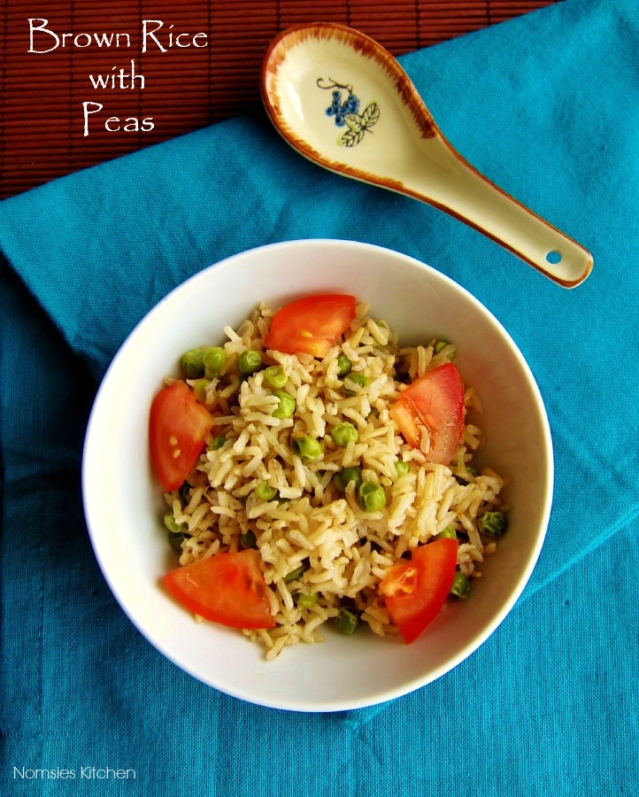 Brown Rice with Peas Recipe from Nomsies Kitchen