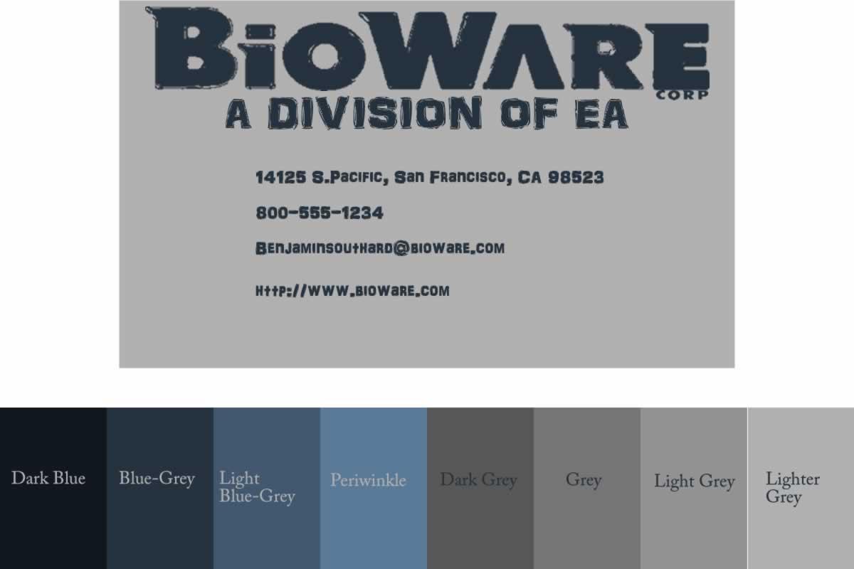 Benjamin southard bioware business card bioware business card reheart Gallery