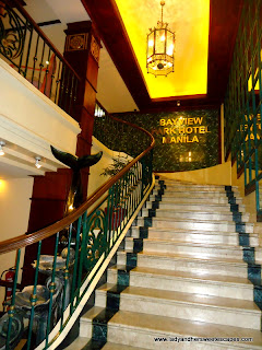 stairs at BayView Park Hotel