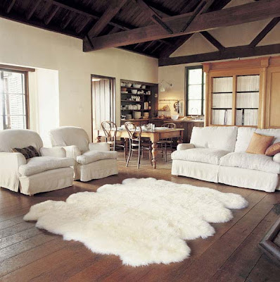 Sheepskin rugs to complement home interiors