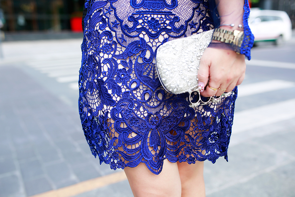 Crystal Phuong- Vietnam Fashion Week Street style day 2- Lace dress