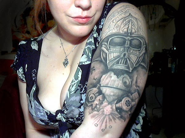 7 awesome star wars tattoos in a far away galaxy. Black Bedroom Furniture Sets. Home Design Ideas