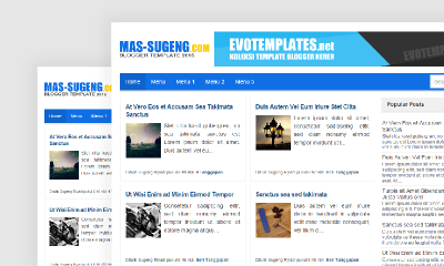 Mas Sugeng Blogger Template