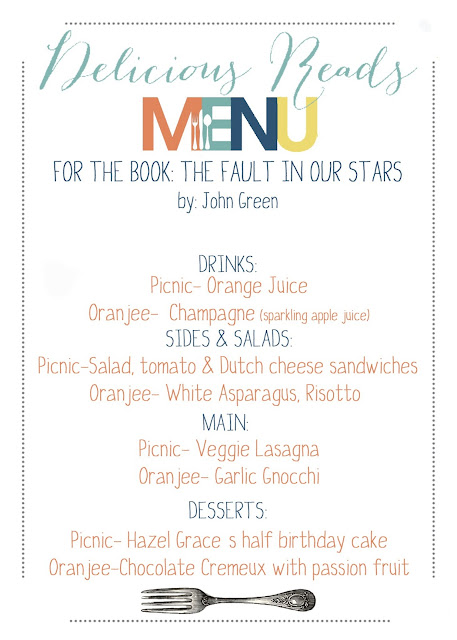 The Fault in Our Stars Menu