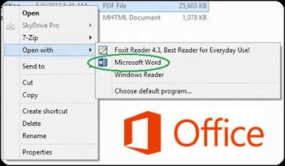 Microsoft Word 2013 Dapat Digunakan Untuk Mengedit File PDF