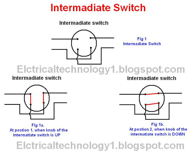 Intermediate switch, its construction, working principle