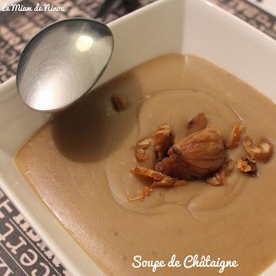 Illustration soupe de châtaigne