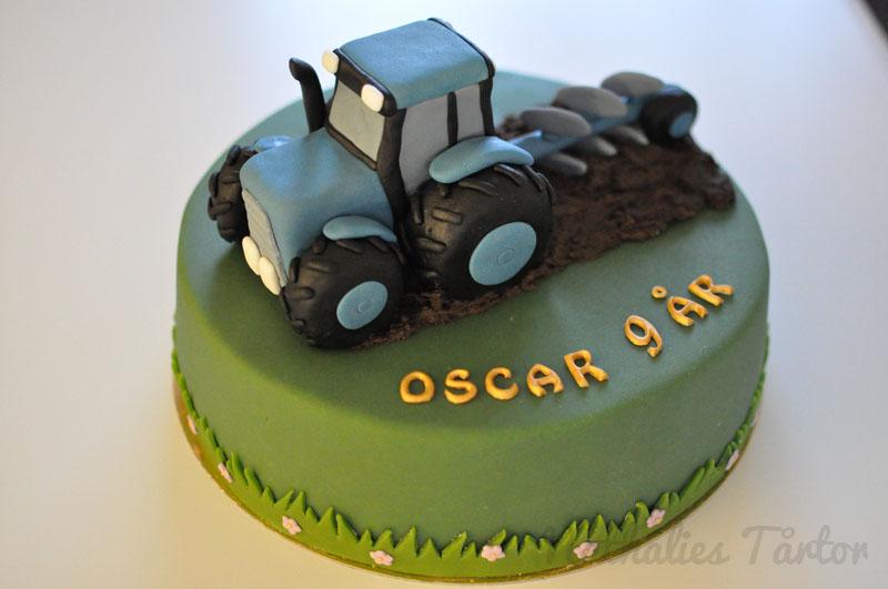 traktor dekoration tårta