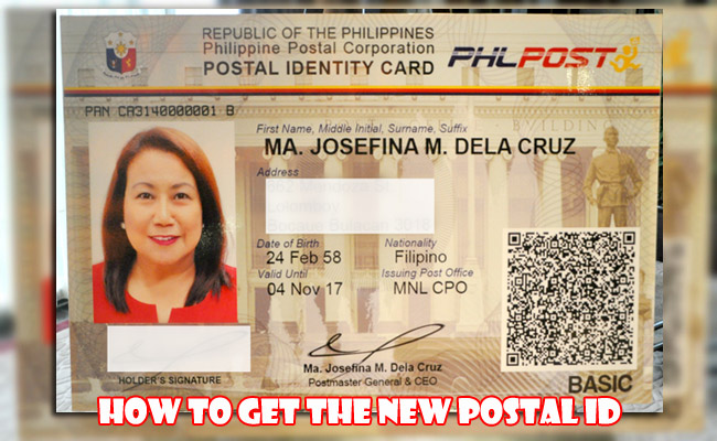 How to get the New Postal ID
