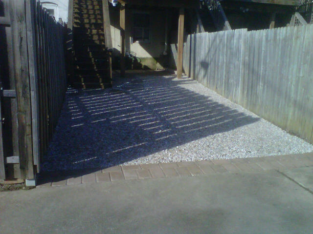 backyard irregular flagstone stepping stones off deck steps park
