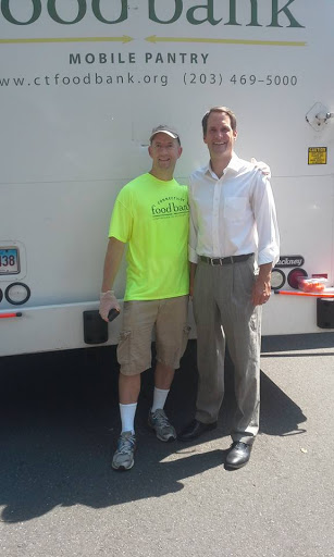 Thomas Q Kimball of Ridgefield,Connecticut meets U.S. Congressman Jim Himes