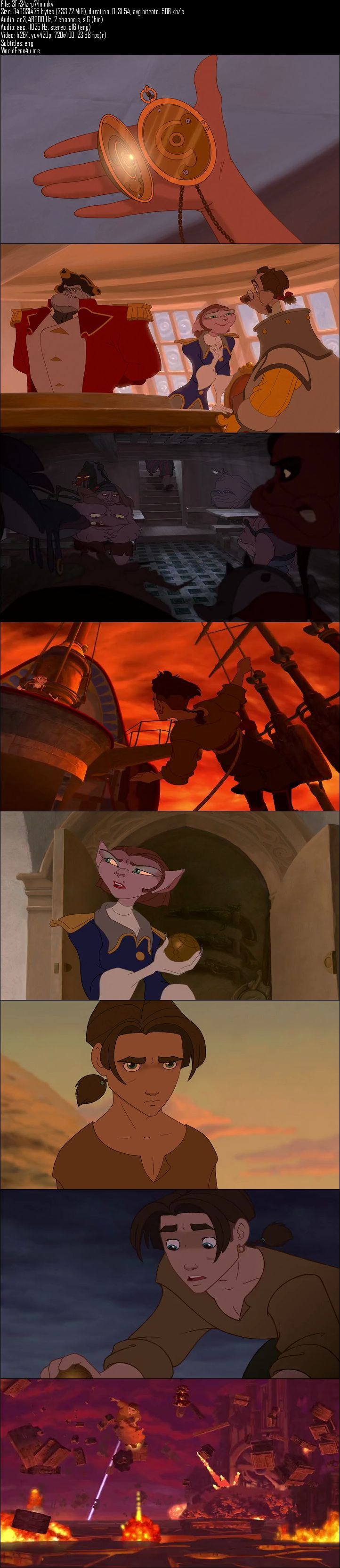 Screen Shot Of Treasure Planet 2002 Full Movie Download 300MB In Hindi 480P ESubs Full small Size PC Movie