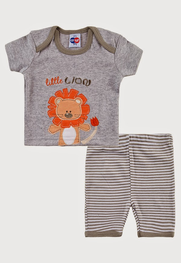 Comprar conjunto de calça e camiseta para bebê.[