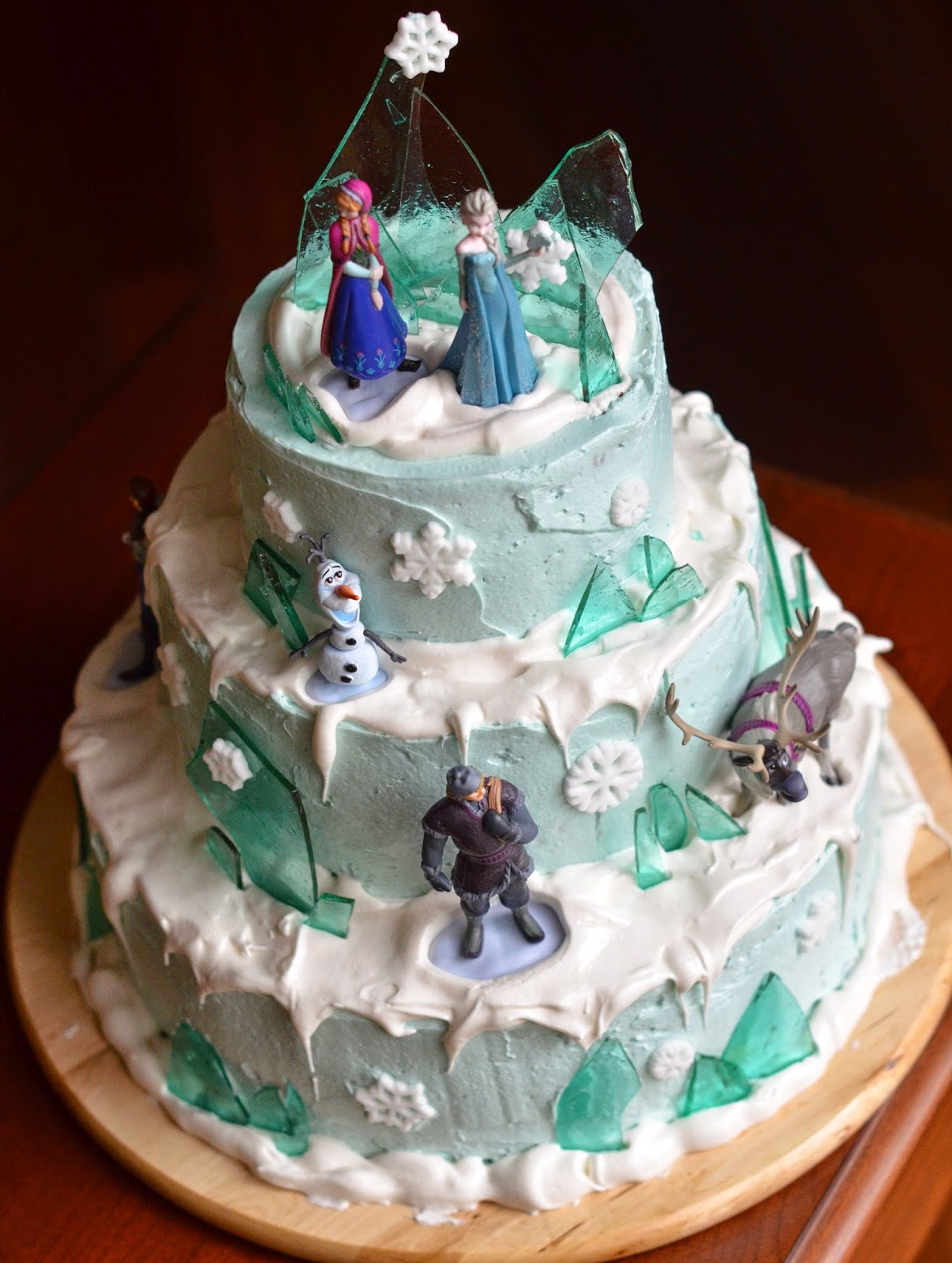 Sugar And Spice And Everything Nice A Frozen Birthday Cake