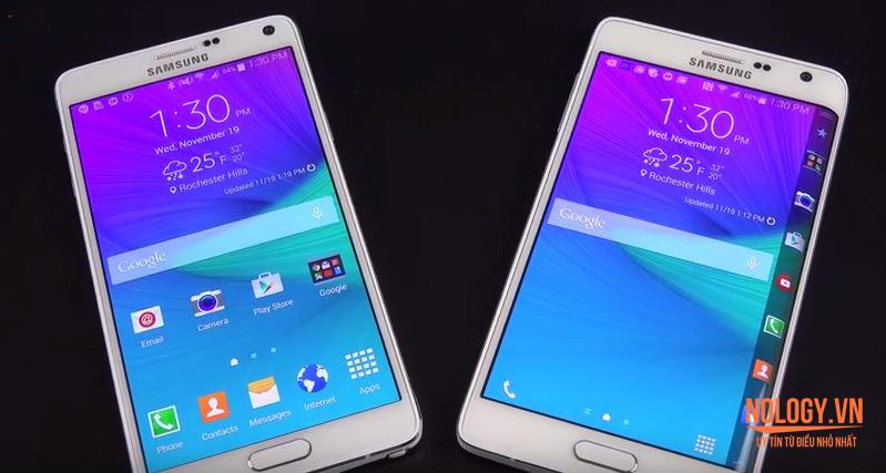 Thiết kế của Samsung Galaxy Note Edge Docomo và note 4