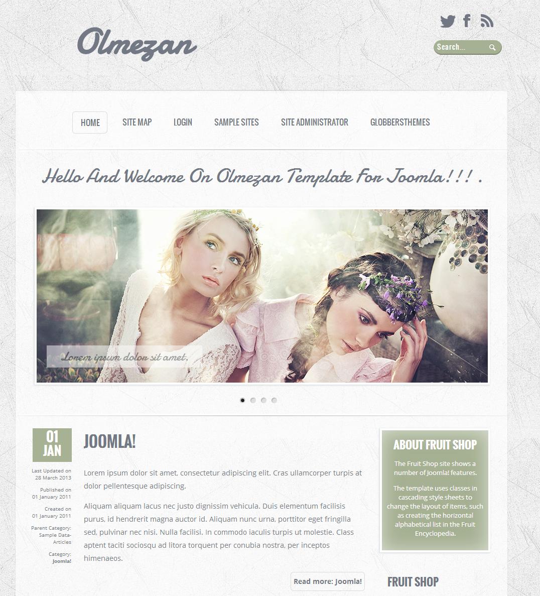 Olmezan 3 Free Joomla Template