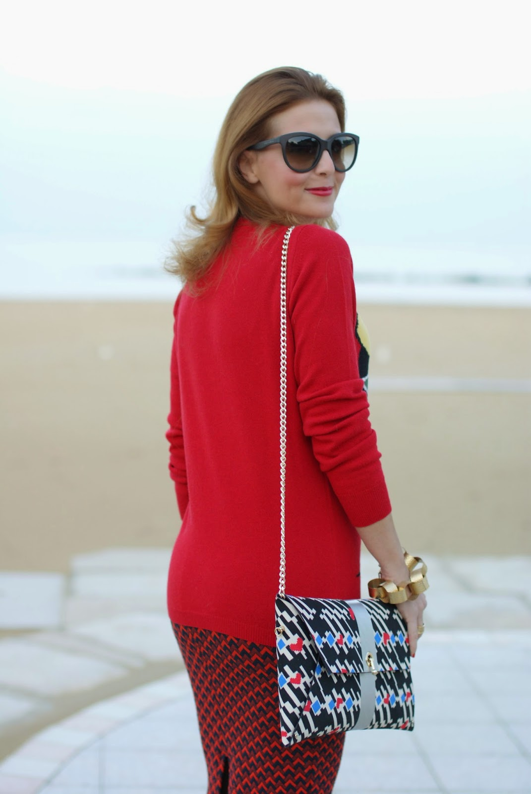 Maglione Moschino con faccia, Ohmai borsa Louise, Fashion and Cookies, fashion blogger