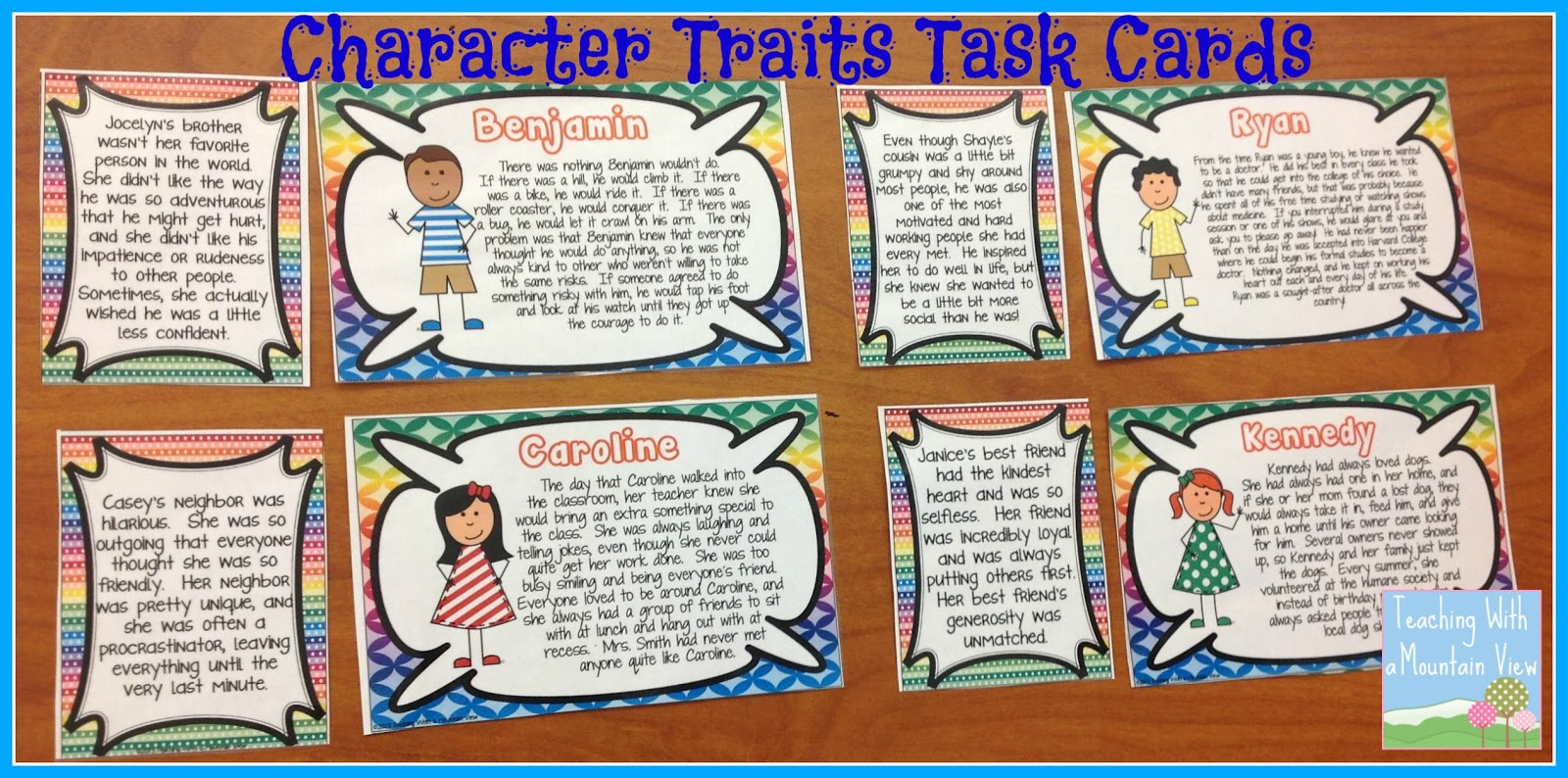 essays about character traits