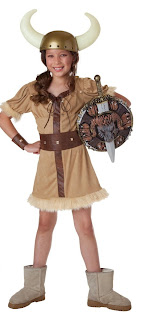 barbarian girl child costume