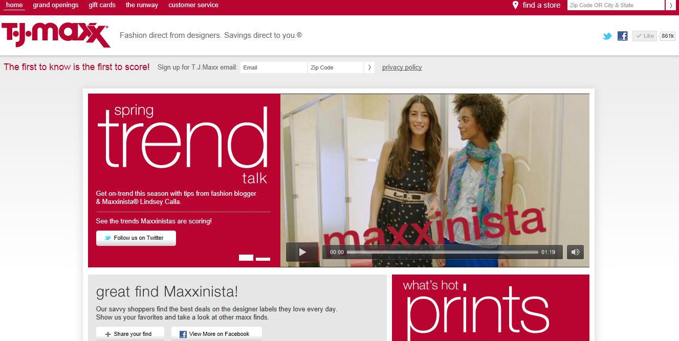 Ashley\'s Blog: T.J. Maxx: Social Media Monitoring Report 2