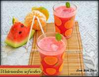 watermelon & orange juice recipe,watermelon refresher,watermelon orage refresher recipe,watermelon juice