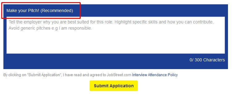 how to make a pitch in jobstreet sample
