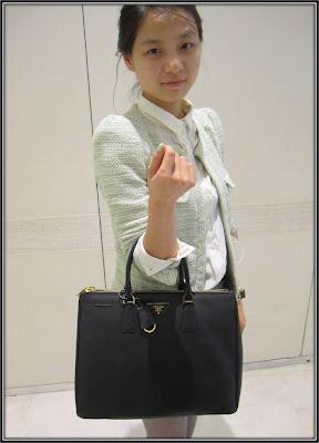 Style de la semaine sac Prada cuir noir