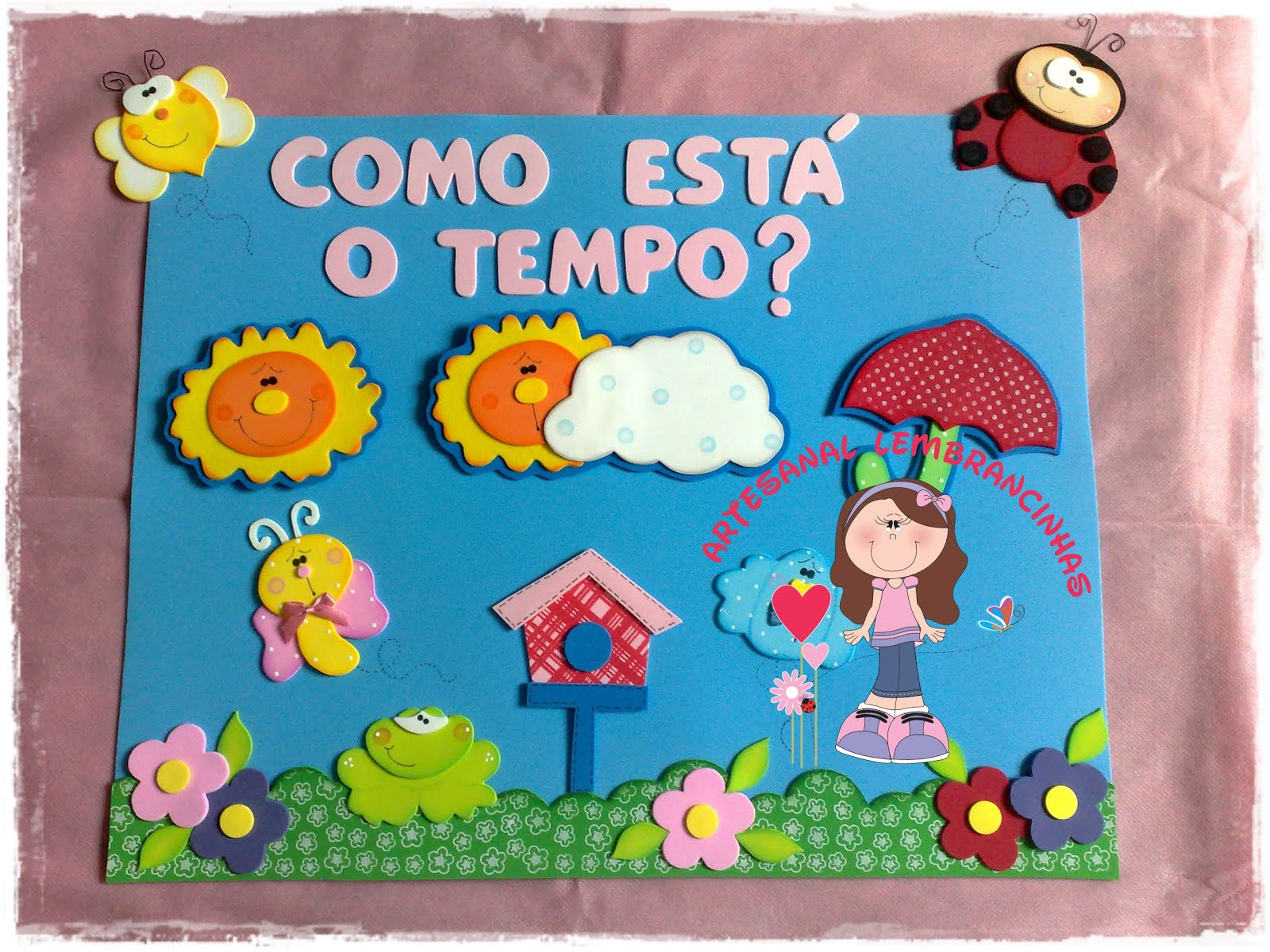 kit decoracao sala de aula:ARTESANAL LEMBRANCINHAS: Kit Sala de Aula Jardim