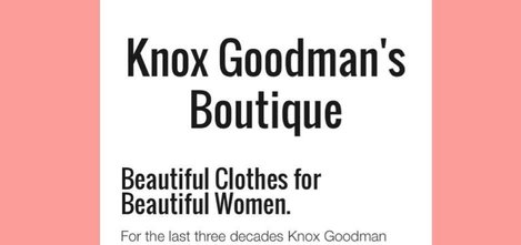 Knox Goodman has decided to retire from retail and closer her popular store.