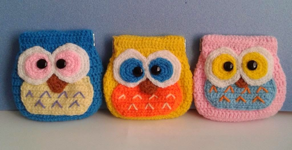 crochet owl coin pouch amigurumi pattern cute lovely gift idea