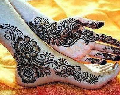 Simple Mehndi Henna Designs Legs : Top mehndi designs for fingers livinghours