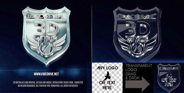 VideoHive 3D Metallic Logo