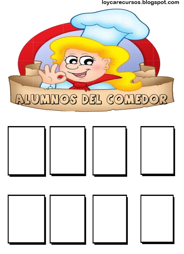 Decoraci n del aula educaci n infantil for Cartel comedor infantil