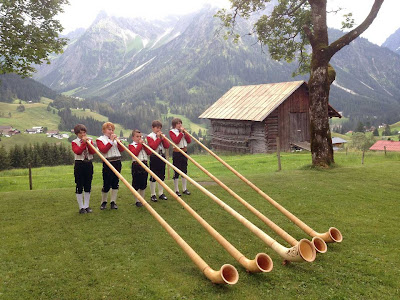 Traditional music in Austria Alps