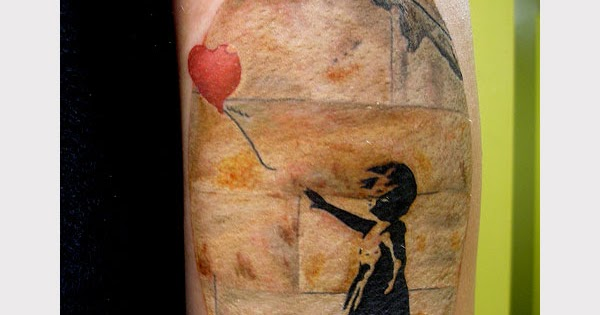 The good the bad and the tattooed banksy wall tattoo for Off the wall tattoo