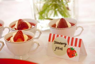 Strawberry Birthday Party jellies