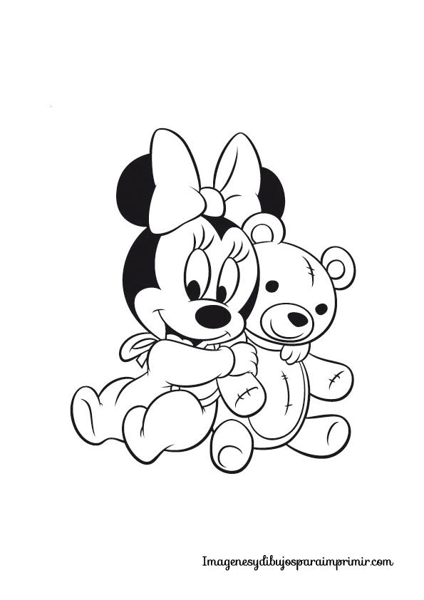 Dibujos De Amor Para Colorear Dibujos De Mickey Mouse Con Flores Para