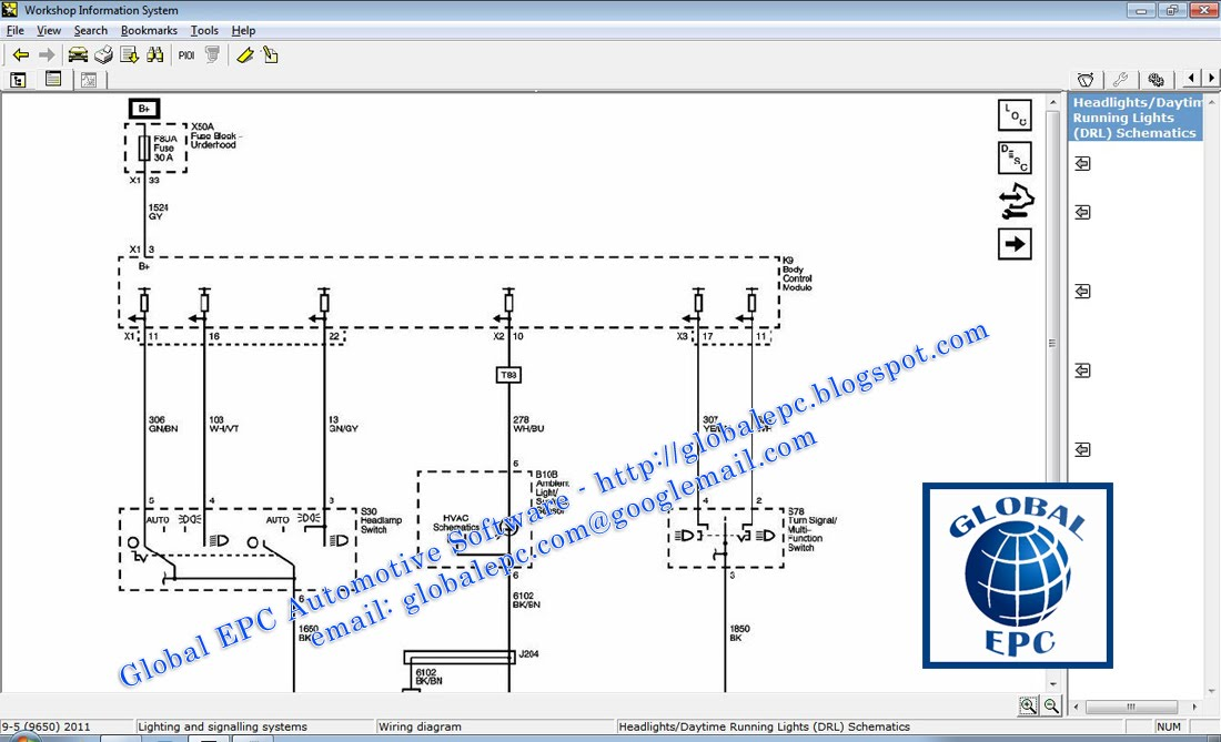 gmc canyon tail light wiring diagram gmc automotive wiring diagrams saab wis 2010 14 globalepc gmc canyon tail light wiring diagram saab wis 2010 14 globalepc