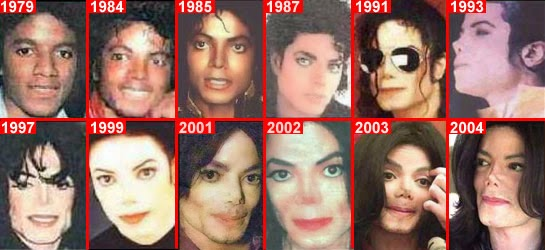 michael jackson antes y despues