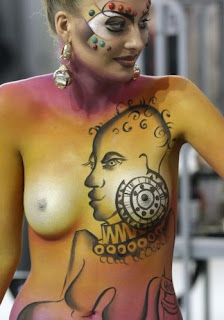 Body paint Head on Chest