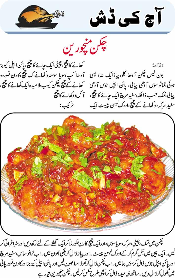 Chicken Manchurian Recipe In Urdu