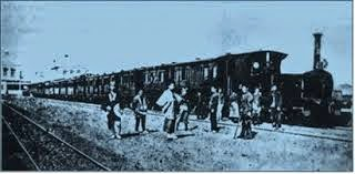 The early history of the emergence of a train in Japan